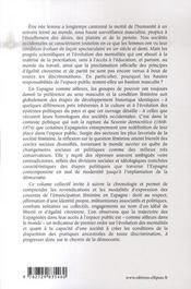 Femmes et démocratie ; les espagnoles dans l'espace public (1868-1978) - 4ème de couverture - Format classique