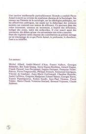 Variations sociologiques ; en hommage à Pierre Ansart - 4ème de couverture - Format classique