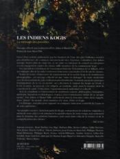 Les Indiens kogis ; la mémoire des possibles - 4ème de couverture - Format classique