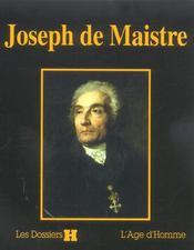 Joseph De Maistre - Intérieur - Format classique