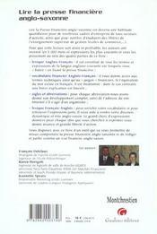 Savoir Lire La Presse Financiere En Anglais Et En - 4ème de couverture - Format classique
