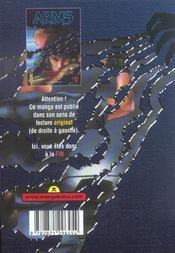 Arms t.9 - 4ème de couverture - Format classique