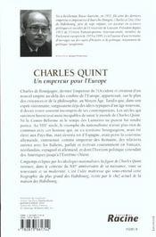 Charles Quint ; un empereur pour l'Europe - 4ème de couverture - Format classique