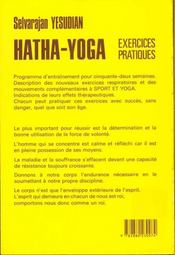 Hatha-Yoga - 4ème de couverture - Format classique