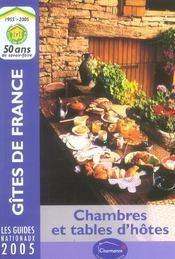 Gites De France. Chambres Et Tables D'Hotes - Intérieur - Format classique