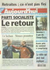 Aujourd'Hui En France N°597 du 17/05/2003 - Couverture - Format classique