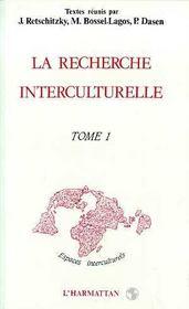 Recherche (1) Interculturelle - Intérieur - Format classique