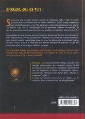 Energie Secrete De L'Univers (L') - 4ème de couverture - Format classique