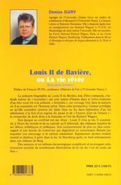Louis II de baviere ou la vie revee - 4ème de couverture - Format classique
