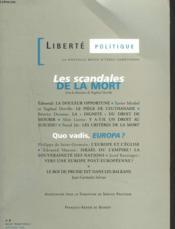Scandales De La Mort. Liberte Politique, Numero 8 - Couverture - Format classique