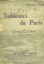 Tableaux De Paris. - Couverture - Format classique