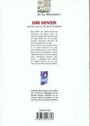 Un Hiver Sur Les Traces De Jack London - 4ème de couverture - Format classique