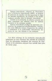 Recherche (2) Interculturelle - 4ème de couverture - Format classique