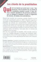 Les Clients De La Prostitution - 4ème de couverture - Format classique