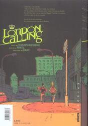 London Calling T.1 - 4ème de couverture - Format classique