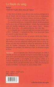 La Route Du Sang - 4ème de couverture - Format classique