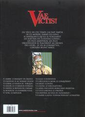 Vae victis T.14 ; Critovax, au-delà de l'ignominie - 4ème de couverture - Format classique