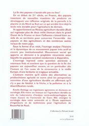 Paysans, De La Parcelle A La Planete ; Socio-Anthropologie Du Reseau Agricole Durable - 4ème de couverture - Format classique