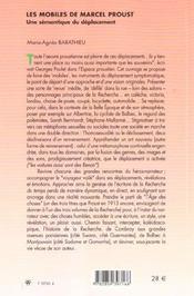 Les Mobiles De Marcel Proust. Une Semantique Du Deplacement - 4ème de couverture - Format classique