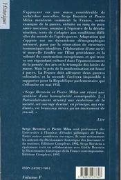 Histoire de la france xx siecle t.3 ; 1945-1958 - 4ème de couverture - Format classique