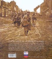 Hauts Lieux De La Grande Guerre - 4ème de couverture - Format classique