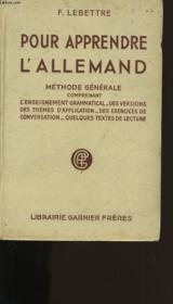 Pour Apprendre L'Allemand. - Couverture - Format classique