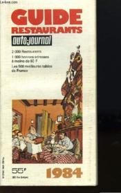 Le Guide Des Restaurants 1984 - Couverture - Format classique