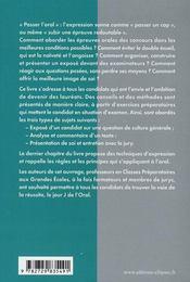 L'Oral De Culture Generale Aux Concours - 4ème de couverture - Format classique