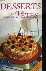 Desserts pour les fetes - Couverture - Format classique