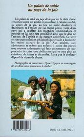 Palais De Sable Au Pays De La Joie - 4ème de couverture - Format classique