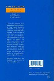 Les Catholiques En Lorraine Et La Guerre D'Algerie - 4ème de couverture - Format classique