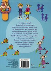 Mes petits jeux éducatifs ; smiling friends - 4ème de couverture - Format classique