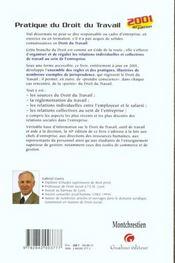 Pratique Du Droit Du Travail - 4ème de couverture - Format classique