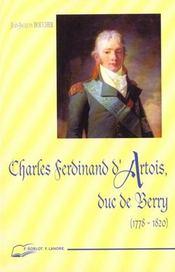 Charles Ferdinand D'Artois Duc De Berry - Intérieur - Format classique