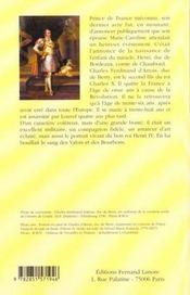 Charles Ferdinand D'Artois Duc De Berry - 4ème de couverture - Format classique