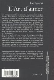 L Art D Aimer - 4ème de couverture - Format classique