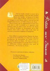 Cuisine Au Rhum Recettes Salees - 4ème de couverture - Format classique