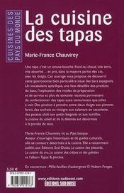 La cuisine des tapas - 4ème de couverture - Format classique
