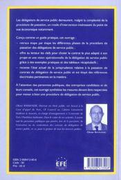 Delegation de service public : mode d'emploi - 4ème de couverture - Format classique