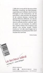 Meeting ; Le Lecteur Ideal - 4ème de couverture - Format classique