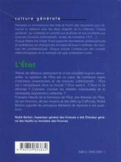 L'Etat Les Faits Les Arguments Un Sujet Corrige - 4ème de couverture - Format classique