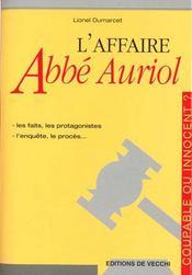 L'Affaire Abbe Auriol - Intérieur - Format classique