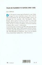Villes De Flandre Et Arto - 4ème de couverture - Format classique