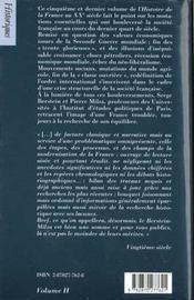 Histoire de la france xx siecle t.5 ; 1974 a nos jours - 4ème de couverture - Format classique
