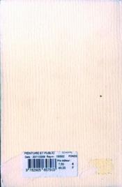 Peintre Et Public - 4ème de couverture - Format classique