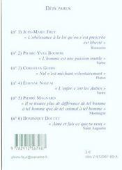 Le Coeur A Ses Raison Que La Raison Ne Connait Point - 4ème de couverture - Format classique