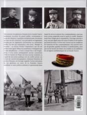 Les generaux francais de la grande guerre - 4ème de couverture - Format classique
