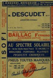Annuaire Le Telephone Du S.-O. - Couverture - Format classique