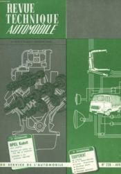Revue Technique Automobile - N°228 - Couverture - Format classique