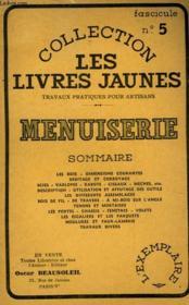 Menuiserie - Fascicule N°5 - Couverture - Format classique